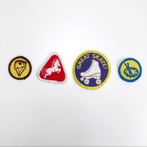 Vintage Camp Fire Girls Patches Badges Great Skate